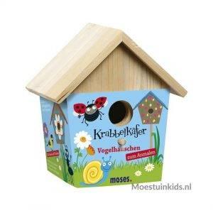 Verf je eigen vogelhuisje (incl verf en penseel) - Krabbelkäfer