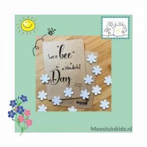 Bloeiconfetti kaart 'Let it bee…' – Bloom your message