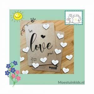 Bloeiconfetti kaart 'Let love grow' - Bloom your message