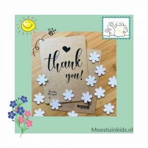 Bloeiconfetti kaart 'Thank you' - Bloom your message
