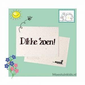 Bloeikaart 'Dikke zoen!' - Bloom your message