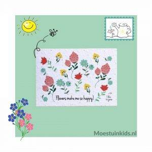 Bloeikaart 'Flowers make me so happy!' - Bloom your message