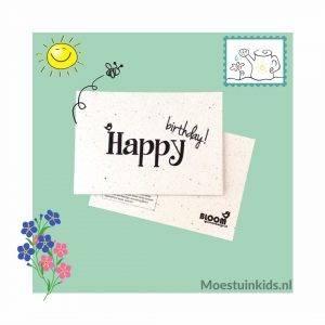 Bloeikaart 'Happy birthday!' - Bloom your message