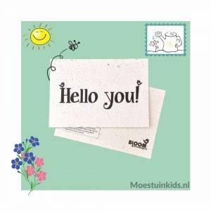 Bloeikaart 'Hello you!' - Bloom your message