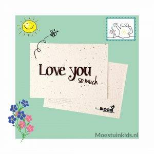 Bloeikaart 'Love you so much' - Bloom your message
