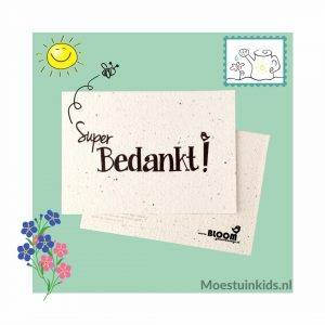 Bloeikaart 'Super bedankt!' - Bloom your message