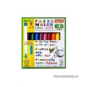 Viltstiften voor natuurknutsels, met gum - Oekonorm